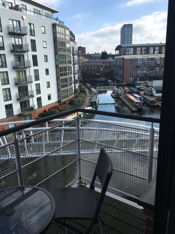 39 double room in modern flat near city centre 39 room to for Balcony overlooking city