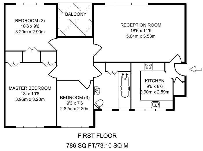 39 1 Room Near Clapham South Rent Falls After 12m 39 Room To