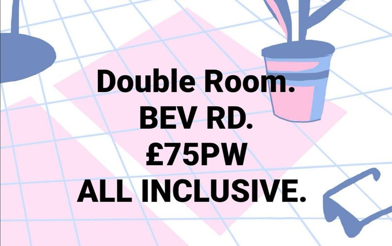 Low Deposit, Double £75pw. Beverley rd Main Photo